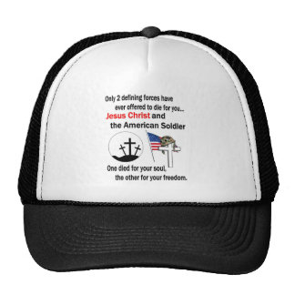 Jesus Christ and the American Soldier 2nd Version Cap