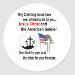 Jesus Christ and the American Soldier 2nd Version Sticker