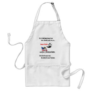 Jesus Christ and the American Soldier Apron