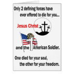 Jesus Christ and the American Soldier Cards