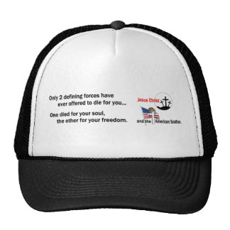 Jesus Christ and the American Soldier Mesh Hat
