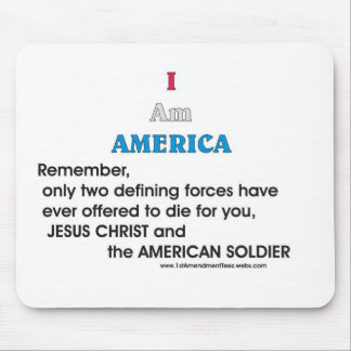 Jesus Christ and the American Soldier Mouse Pads