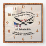 Jesus Christ and the American Soldier Square Clock