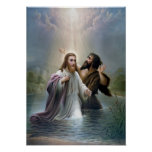 Jesus Christ Baptism by John the Baptist Print