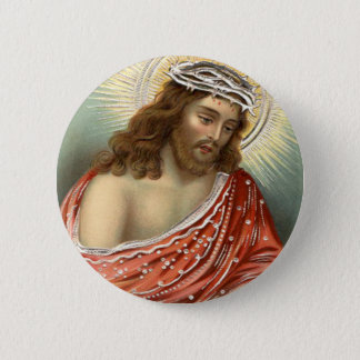 Jesus Christ Christian Christianity Nimbus 6 Cm Round Badge
