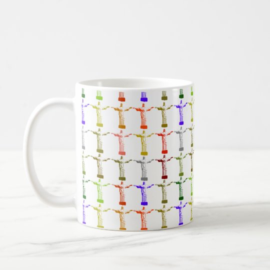 Jesus Christ colour pattern Coffee Mug