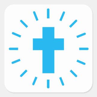 Jesus Christ Cross Square Sticker