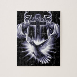 Jesus Christ Crown of Thorns and Dove Jigsaw Puzzle