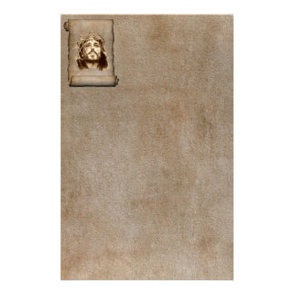 Jesus Christ Crown of Thorns on Scroll Stationery