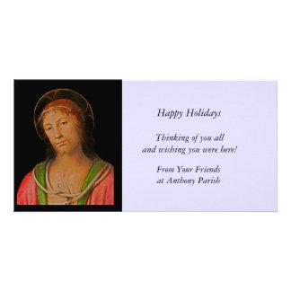Jesus Christ Crown of Thorns Photo Greeting Card