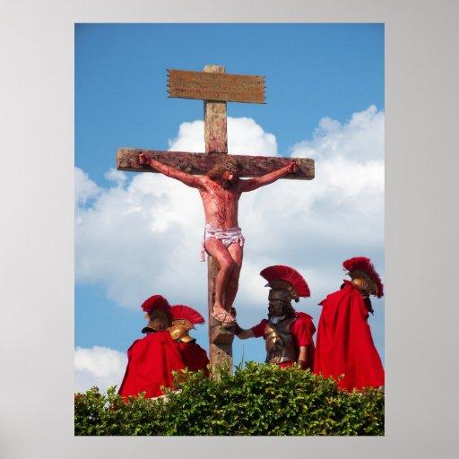 Jesus Christ Crucifixion Cross Christian Poster