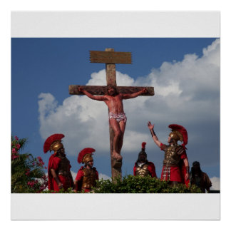 Jesus Christ Crucifixion Easter Poster Photo Art