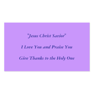 Jesus Christ  Design by Carole Tomlinson Business Card Templates