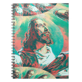 Jesus Christ Fractal Dove Peace Posterized Notebook