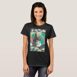 Jesus Christ Fractal Dove Peace Posterized T-Shirt