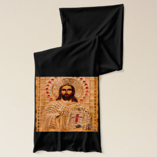 Jesus christ golden icon scarf