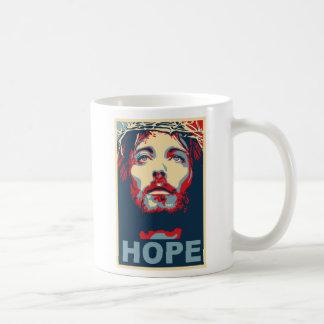 Jesus Christ Hope Basic White Mug