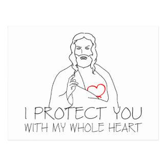 Jesus Christ - I Protect You Postcard