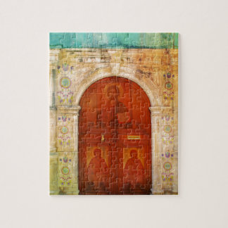 Jesus Christ Icon Door Greek Orthodox Jigsaw Puzzle