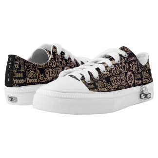 Jesus Christ Is King of Kings Low Top Shoes/ US Printed Shoes