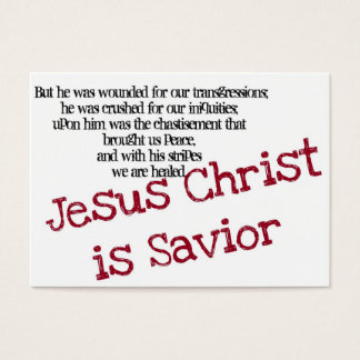 Jesus Christ is Savior (Tract) Business Card