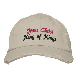 Jesus Christ King of Kings Cap Embroidered Hat