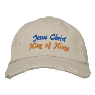 Jesus Christ King of Kings Ladies Cap Embroidered Baseball Caps