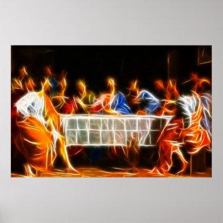 Jesus Christ Last Supper Poster