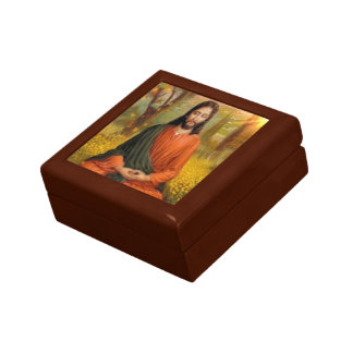 Jesus Christ Meditation Small Square Gift Box