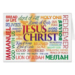 JESUS CHRIST, NAME ABOVE ALL NAMES GREETING CARD