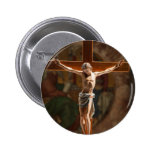 Jesus Christ on the Cross 6 Cm Round Badge