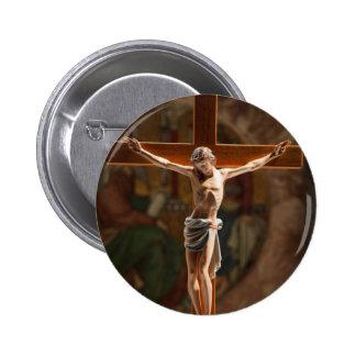 Jesus Christ on the Cross 6 Cm Round Badge