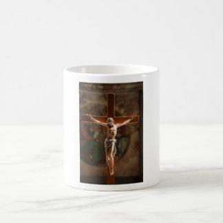Jesus Christ on the Cross Basic White Mug