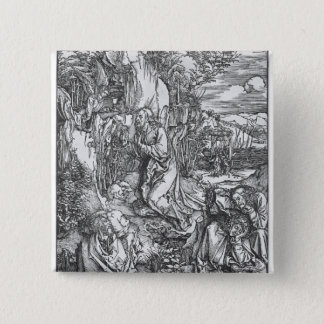 Jesus Christ on the Mount of Olives 15 Cm Square Badge