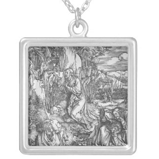 Jesus Christ on the Mount of Olives Silver Plated Necklace