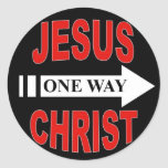 Jesus Christ One Way Classic Round Sticker