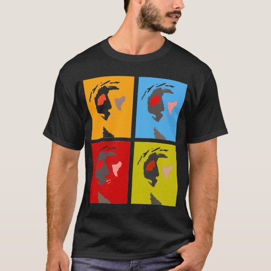 jesus christ pop art on dark black tshirt