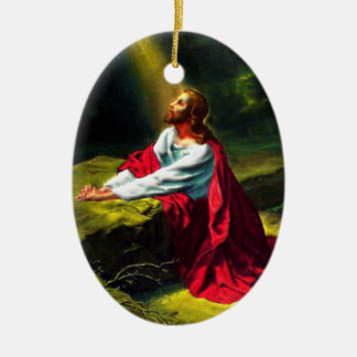 Jesus Christ Praying in the Garden of Gethsemane Christmas Ornament