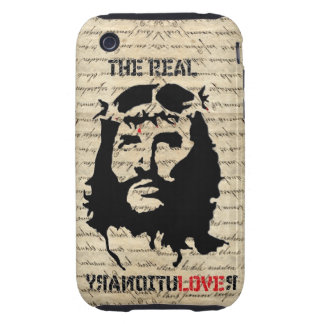 Jesus Christ real  revolutionary Tough iPhone 3 Covers