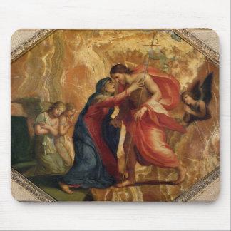 Jesus Christ Receiving the Virgin in Heaven Mouse Mat