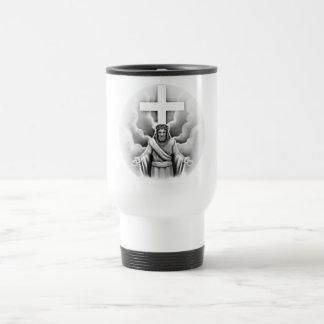 Jesus Christ Resurrection Cross Design Stainless Steel Travel Mug