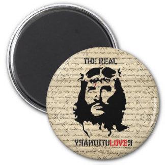 Jesus Christ revolutionary 6 Cm Round Magnet