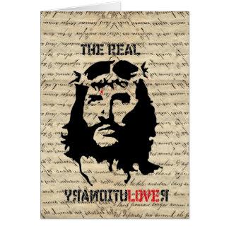 Jesus Christ revolutionary Note Card