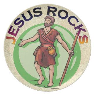 JESUS CHRIST ROCKS PLATE