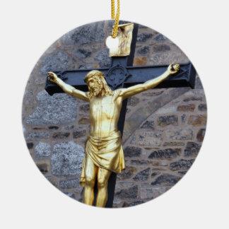 Jesus Christ Round Ceramic Decoration