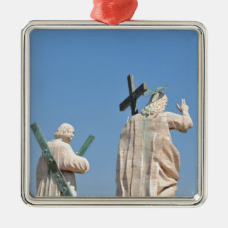 Jesus Christ Silver-Colored Square Decoration