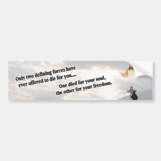 Jesus Christ & the American Soldier New Design #2 Bumper Stickers