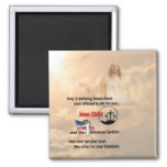 Jesus Christ & the American Soldier Square Magnet