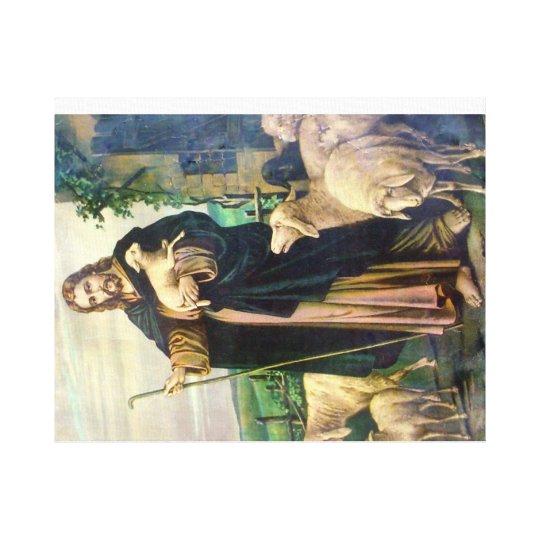 JESUS CHRIST THE GOOD SHEPHERD CANVAS PRINT