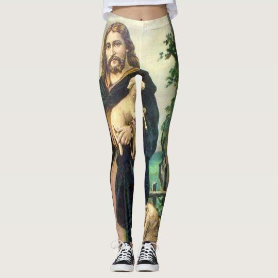 JESUS CHRIST THE GOOD SHEPHERD LEGGINGS